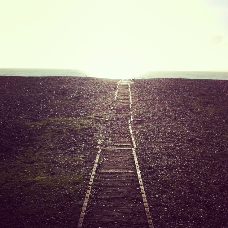 The track to the sea
