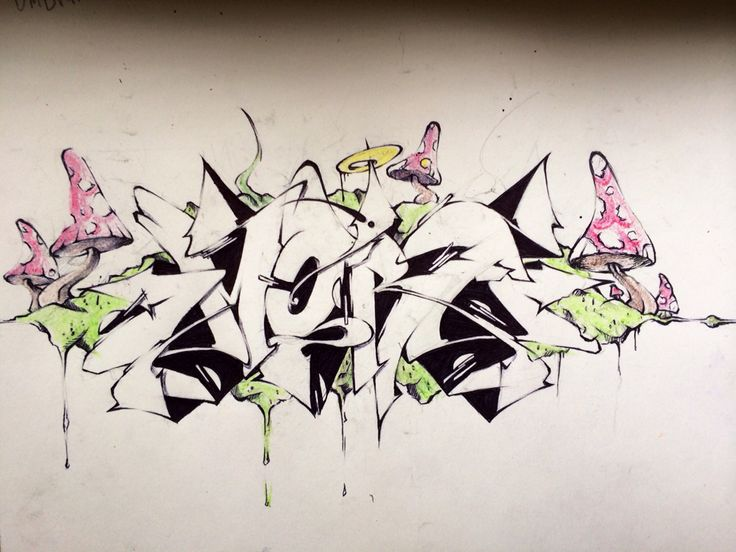 #next#wall#wildstyle#mushrooms#graffiti#sketch#lovecolors