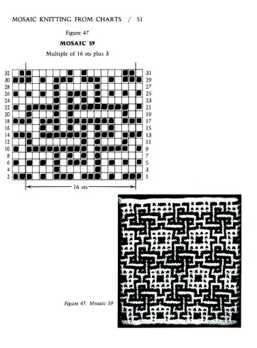 Mosaic Knitting Barbara G. Walker (Lenivii gakkard) Mosaic Knitting Barbara G. Walker (Lenivii gakkard) #56