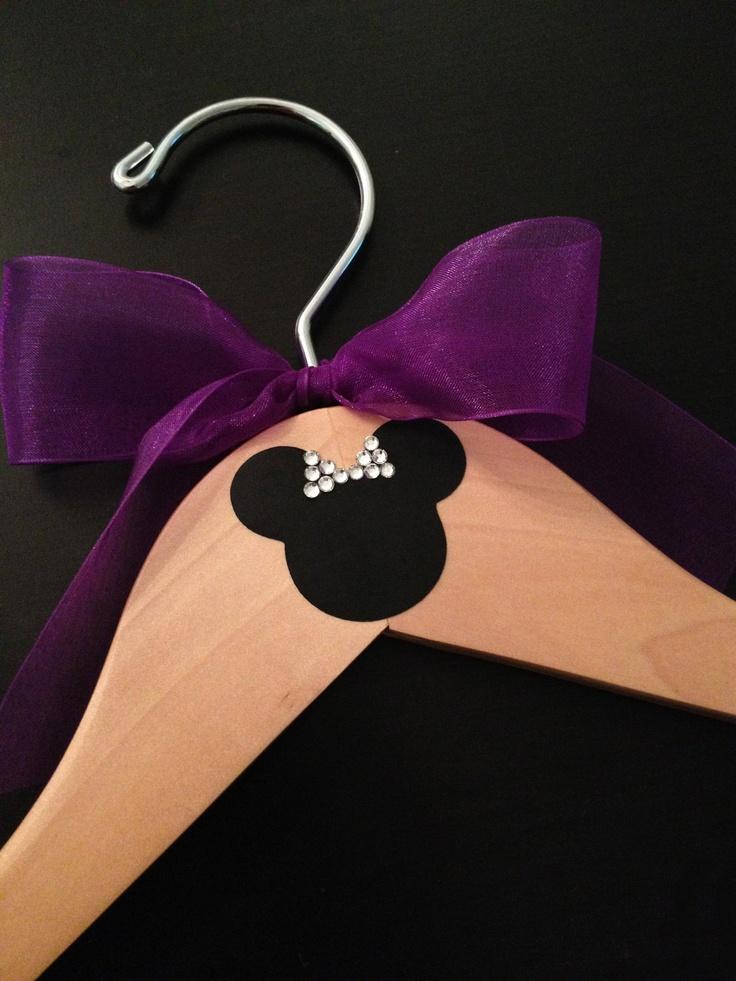 Disney Bridal Party Hangers / Personalized Hanger / Mickey & Minnie Wedding / Minnie Mouse Hanger / Wedding Hanger