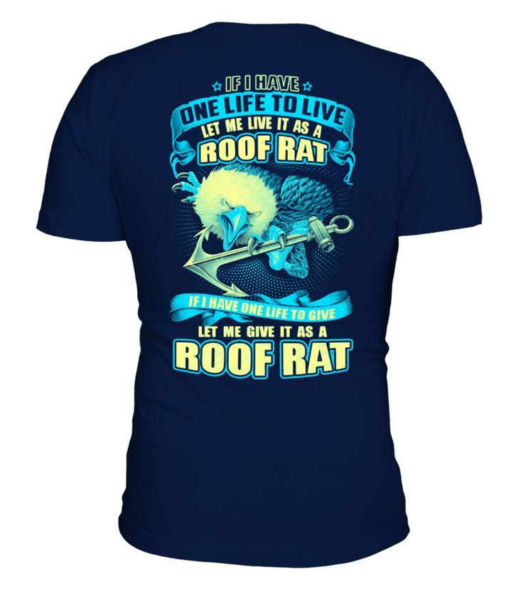 Roof Rat's Life - Navy - Sailor-Soldier  Funny Rats T-shirt, Best Rats T-shirt