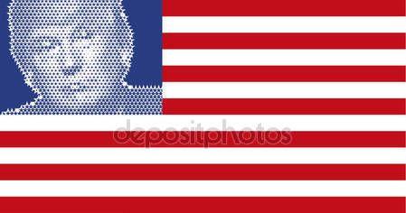 Stati Uniti - novembre 2016 - Donald Trump, 45 ° Presidente degli Stati Uniti damerica — Vettoriali Stock © frizio #130279378