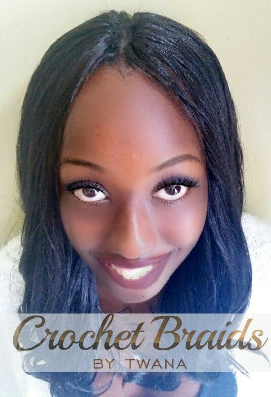 Freetress Yaky Pony Crochet Braids With A Knotless Middle Part Www Crochetbraidsbytwana