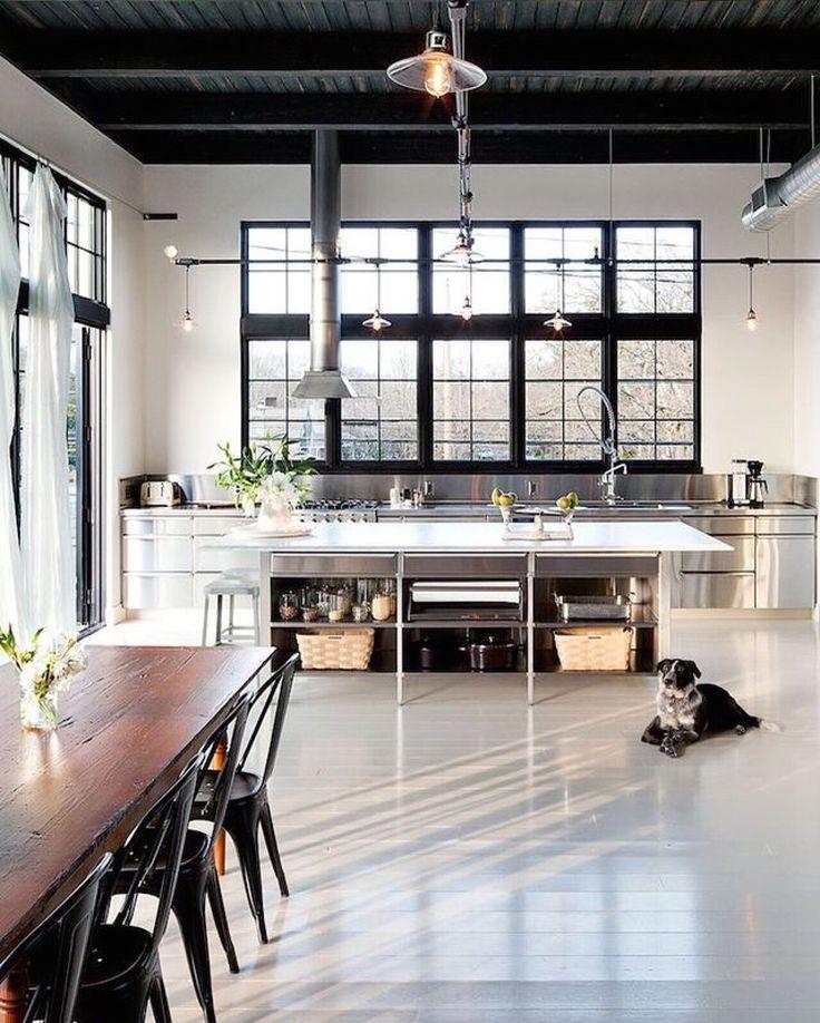 Cuisine industrielle contemporaine en 50 photos for Mobilier cuisine industrielle