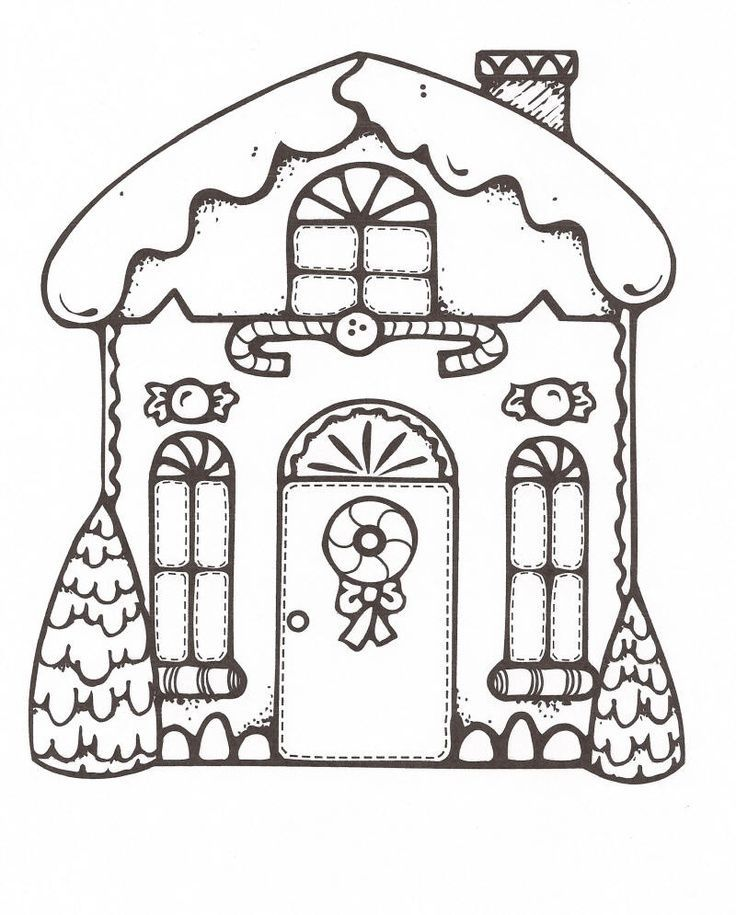 Gingerbread House Coloring Pages | Holiday Coloring Pages ...