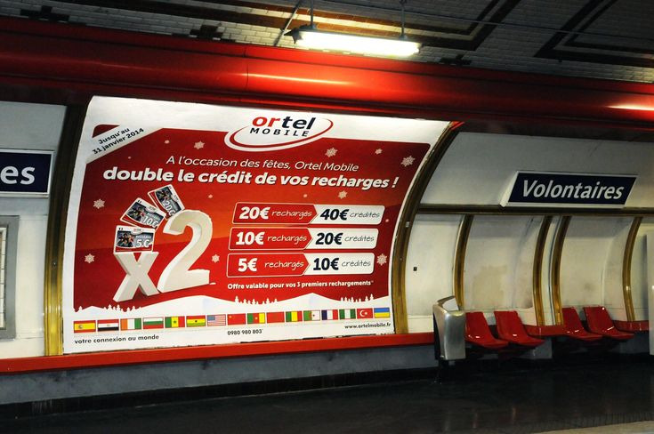 Advertising Campaign in Paris Metro created for Ortel Mobile France. Click here for more details about the campaign. http://ttamsterdam.com/advertising-campaign-paris-metro/