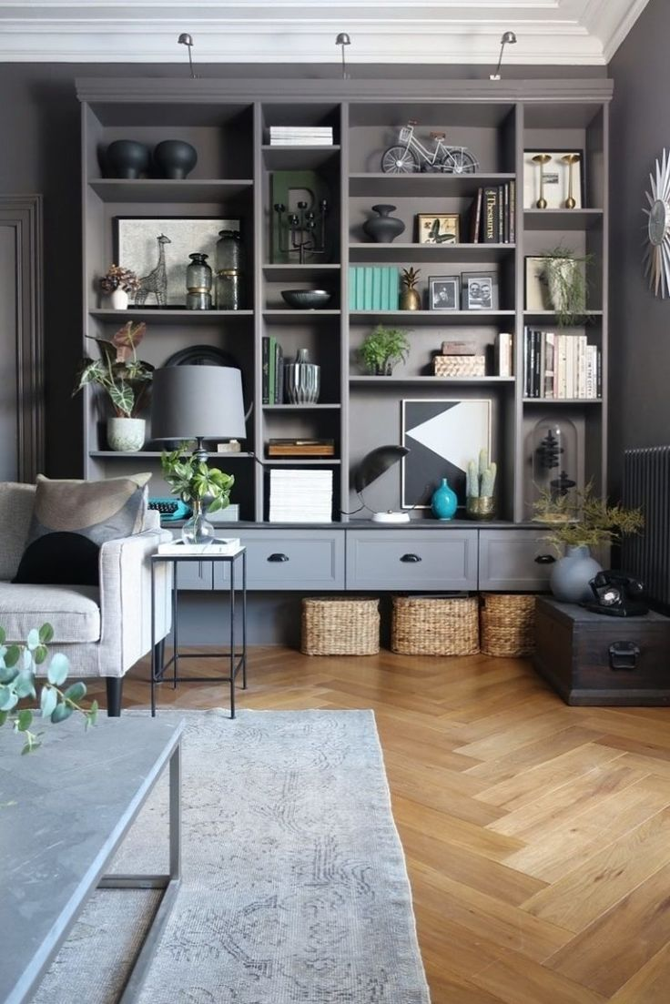 Always love these full wall shelving displays - Little Magic Tricks to Make Your IKEA Look Less Like Laminate