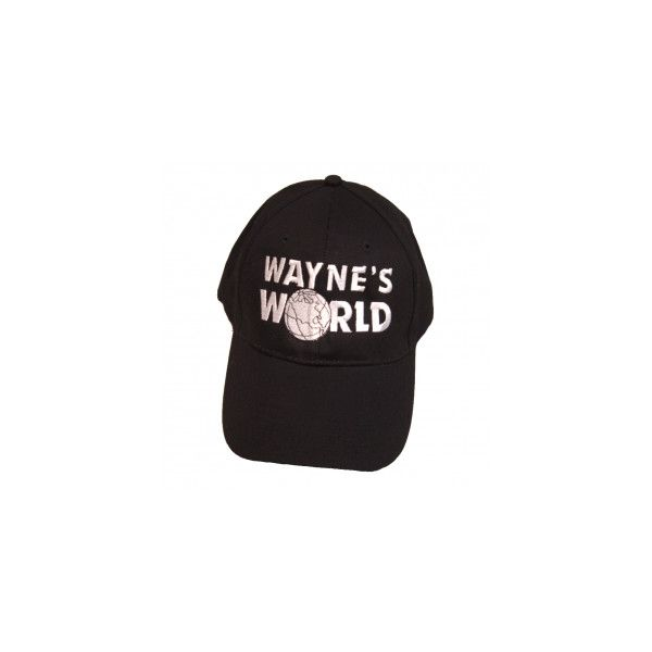 Wayne's World Cap ($24) ❤ liked on Polyvore featuring accessories, hats, fillers, headwear, velcro hat, party hats, adjustable cap, caps hats and adjustable hats