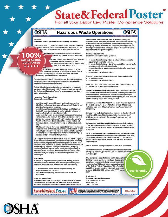 OSHA Hazardous Waste Operations and Emergency Response