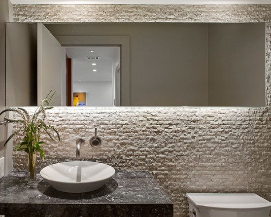 Images Of Beautiful Modern Home Interior Design for a Weekend House Striking Contemporary Powder Room With Backlit