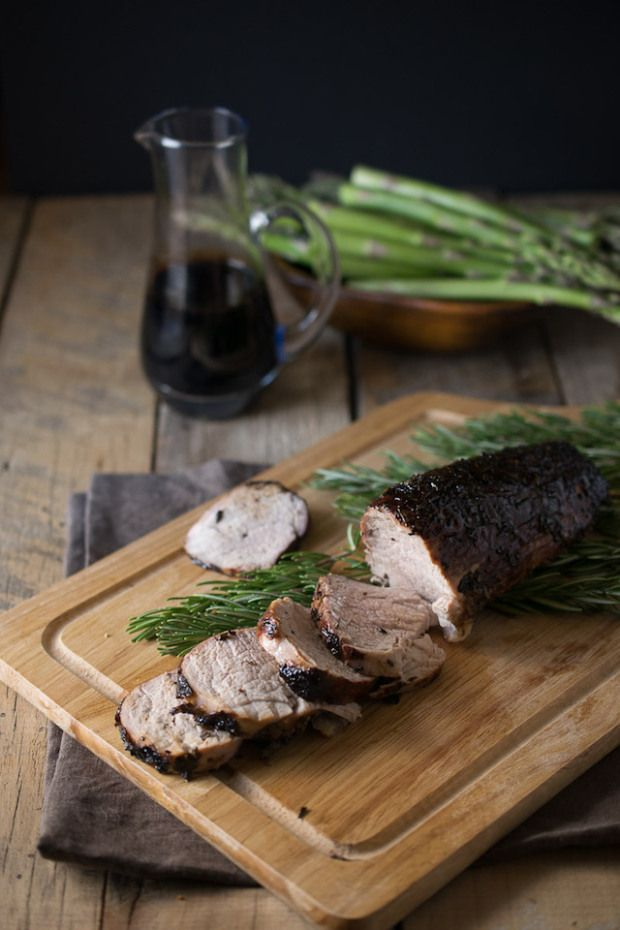 Roasted Pork Tenderloin with Rosemary and Balsamic Drizzle // This tender and flavorful roasted pork will become your new favorite.