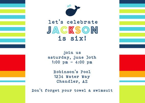 118 best birthday party ideas images on Pinterest Birthday - fresh birthday party invitation designs