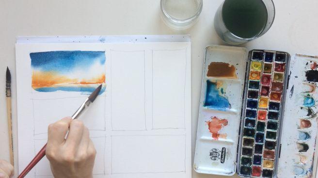 Kopf Aus Farbe An Malen Lernen Zeichnen Lernen Und Malen