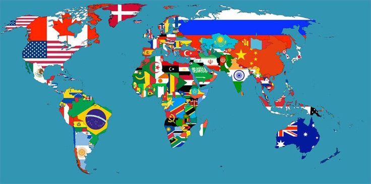 Flag Map of the World 40 Maps That Will Help You Make Sense of the World