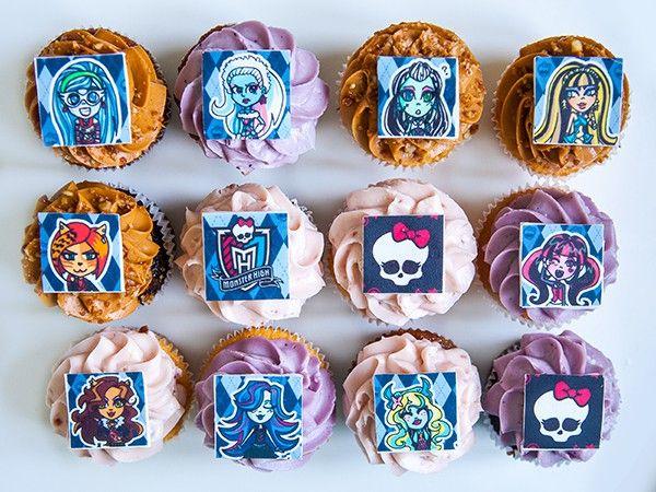 """Капкейки Школа Монстров (""""Monster High"""" cupcakes) - Выпечка на заказ"""