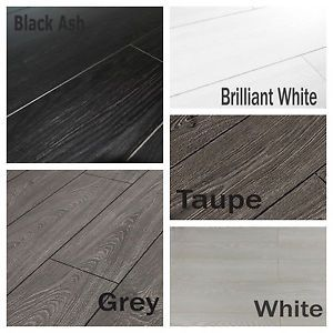 Inexpensive Laminate Flooring discount laminate flooring uk New 8mm Laminate Flooring In White Black Grey V Groove Bevel Edge Cheap Discount Ebay
