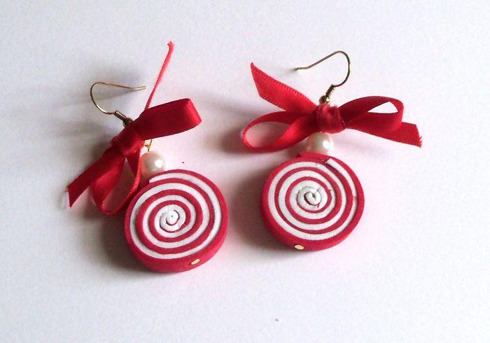lollipop moosgummi earrings