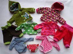 klimperklein: Püppi zieht sich an - Freebook, für 30cm Puppen