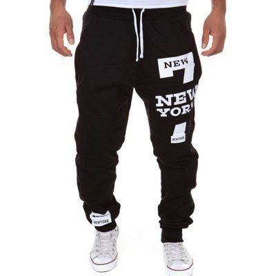 Style: Casual  Material: Polyester  Fit Type: Regular  Waist Type: Mid  Closure Type: Drawstring  Front Style: Flat  Weight: 0.340KG  Pant Length: Long Pants  Pant Style: Pencil Pants  Package Contents: 1 x Sweatpants  Our Size	Waist	Hips	Length M	88	92	102 L	94	96	104 XL	98	100	106...