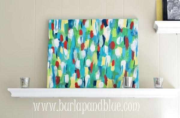 Blue Canvas Art Diy: 1000+ Ideas About 3 Canvas Art On Pinterest