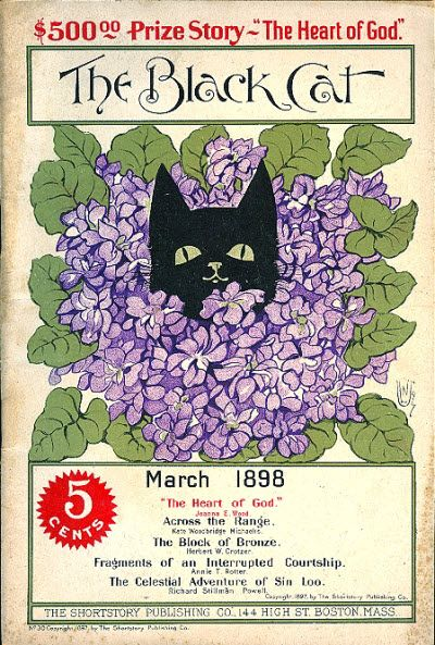 """""""The Black Cat"""" magazine - March 1898 - Cover by Nelly Littlehale Umbstaetter"""