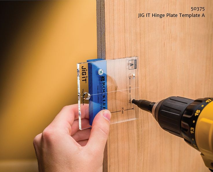 Concealed Cabinet Door Hinge Template
