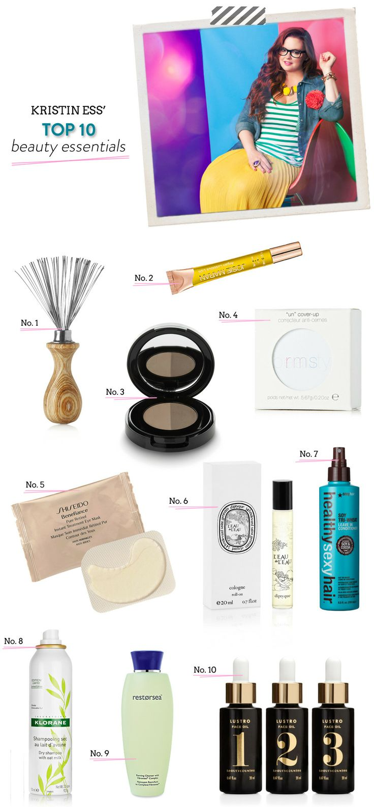 The Beauty Department & Kristin Ess' Top 10 Beauty Essentials |   Read more - http://www.stylemepretty.com/living/2013/07/25/the-beauty-department-kristin-ess-top-10-beauty-essentials/
