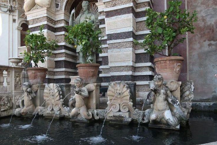 Visit Villa d'Este garden, in Tivoli near Rome, for fountains and water displays.