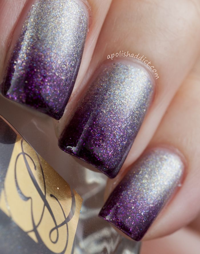 Purple and silver nail designs graham reid silver purple gradient by leola  56 best images about - Purple And Silver Nail Designs Graham Reid