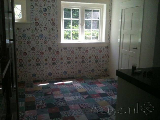Cement tiles Bedroom - Patchwork - Project van Designtegels.nl