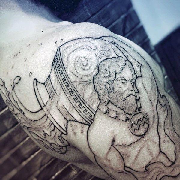 70 Wassermann-Tattoos für Männer - Astrologisch Ink Design
