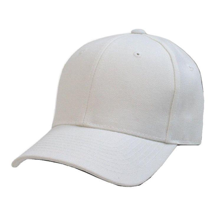 2 pack plain solid fitted baseball cap black white 8