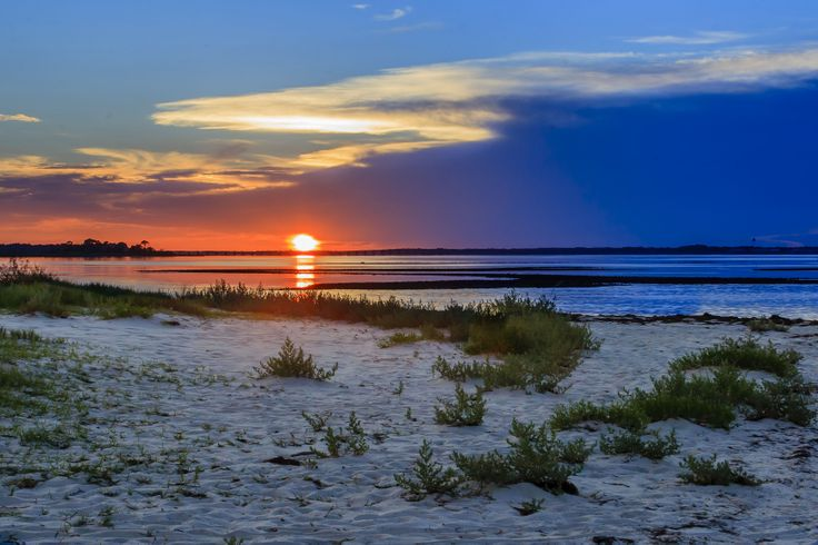 Bald Point State Park Alligator Point Fl Sunset As The