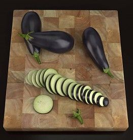 Our latest 3dmodel has arrived! It is a lifelike 3D representation of an aubergine (eggplant). You will not only receive the whole aubergine/eggplant but also a sliced one (20 slices) with a separated crown. And as a bonus you receive a wooden cutting board for free! www.cg-moa.com