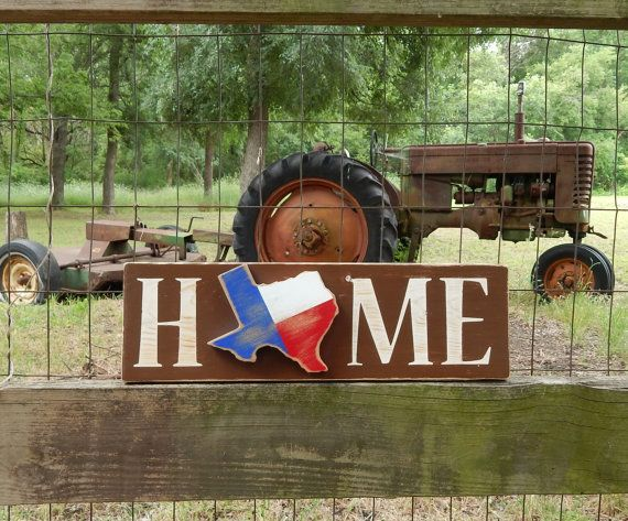 Rustic Texas Home Sign Texas Home Rustic Home by HowGreatThouArts