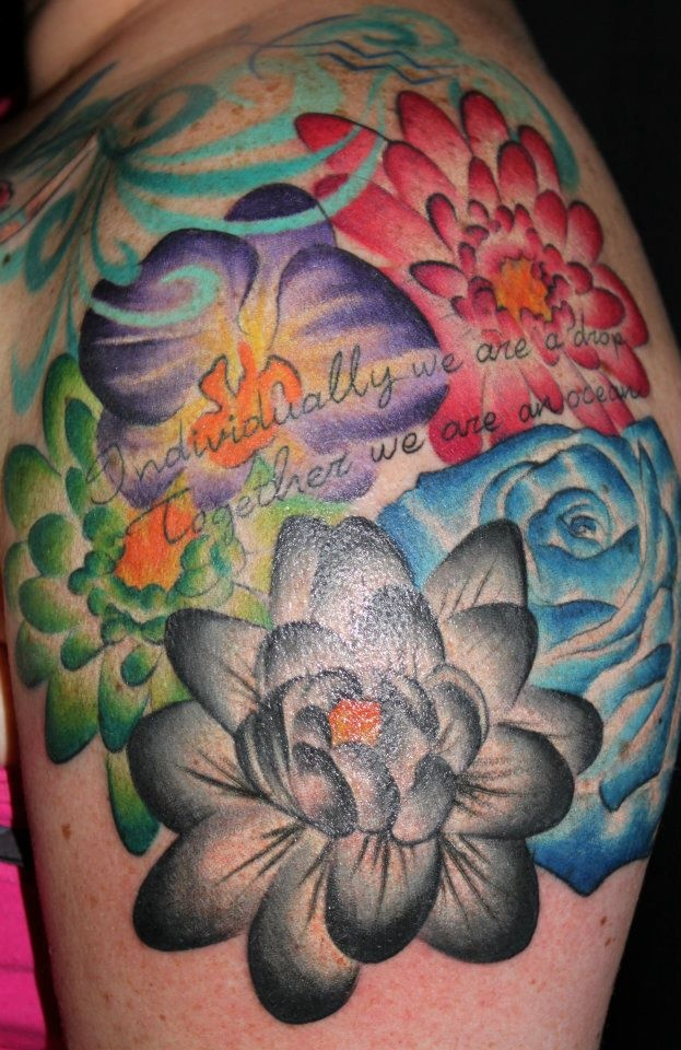 Birth month flowers tattoos pinterest birth month for Star and flower tattoos