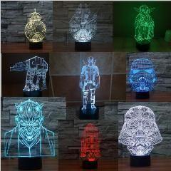 [ 40% OFF ] Звездные войны 3D LED Ночника R2D2 BB8 Droid Тысячелетия сокол Звезда Смерти Масштаб Модель для Сборки Ночь Светлая Спальня Свет игрушка