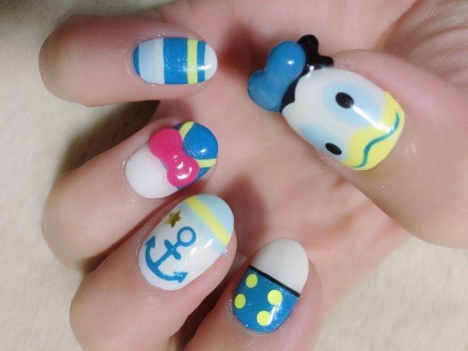 Donald Duck - Disney x Wonderful Design Works Nail Art!! (1/4)