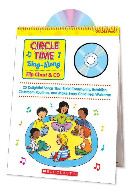 Delightful songs that build community, establish classroom routines, and make every student feel welcome! Find the Circle Time Sing-Along Flip Chart & CD in the Classroom Essentials Catalogue: OPUS 1507716 Page 55 See the pages here: http://scholastic.ca/clubs/cec/