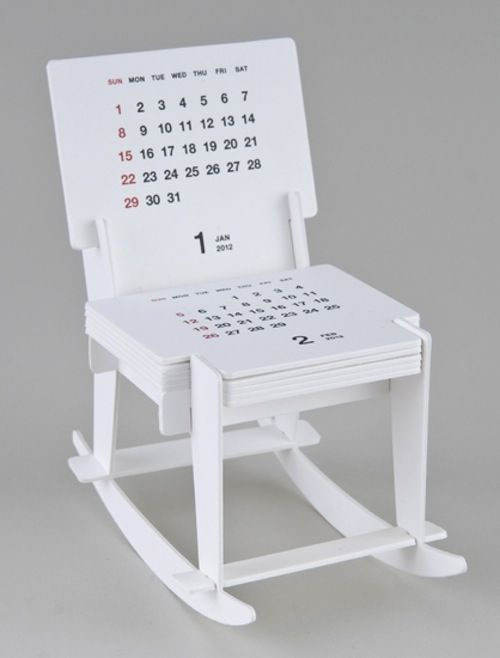 Miniature Rocking Chair that measures passage of time slowly - DesignTAXI.com