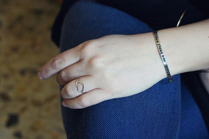 Gestempelter sterling silver Cuff Bracelet  from JSP-HAND STAMPED JEWELRY by DaWanda.com