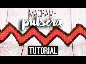 Pulsera punto arroz o camino de inca en zig zag con borde ♥︎ macramé   T...