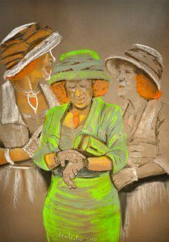 Dialog wewnętrzny  Autor: Malina Kokoszczyńska  - pastele suche  www.kokkoart.pl http://kokoszczynska.pl/ #art #painting #kokoszczynska