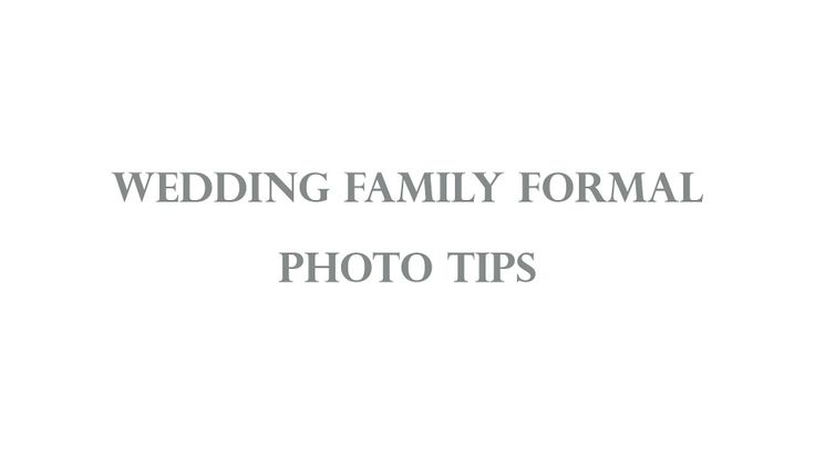 How to handle family formal photos