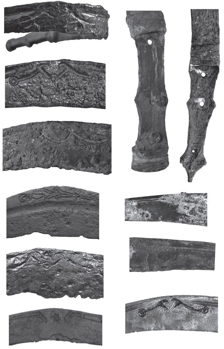 Fig. 10 - Lame şi mânere de pumnale sica cu decoraţii.