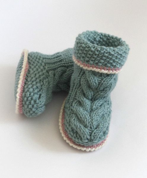 Hand Knitted baby Booties/Boots/Slippers/Shoes,Rea from Crocheted booties, blanket, exclusive garments are handmade   LyudmilaHandmade by DaWanda.com