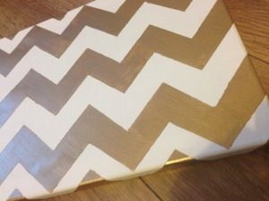 Hand Painted Chevron Canvas Art: DIY and How To on www.boldlygold.com