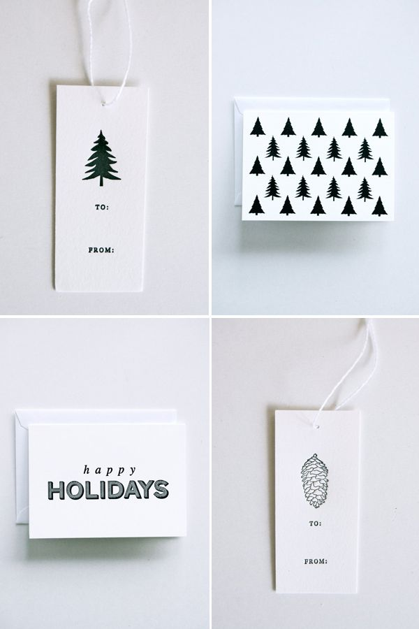 MINIMALISTIC STYLE CHRISTMAS CARDS BY IN HAUS PRESS | THE STYLE FILES