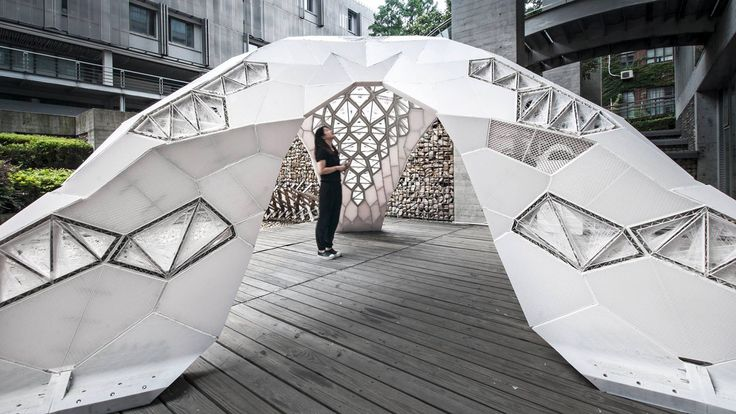 Laboratory for Creative Design (LCD) designed and built Vulcan, a white latticed structure