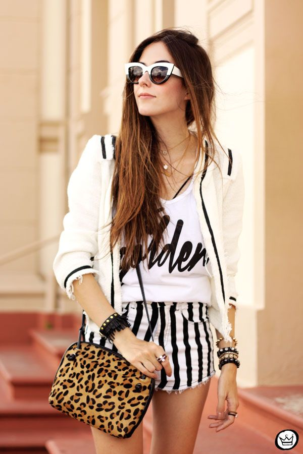black&white with a touch of leopard print